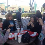 we made a pilgrimage (L to R: Me, KBV, GoWithIt, MNS) to In N Out
